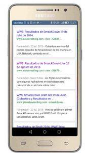 Resultados de búsquedas para móviles de Google