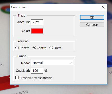 Photoshop. Capa: Contornear