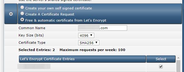 SSL Direct Admin paso 1